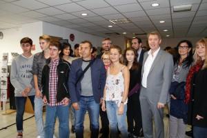 Gérard Gazay, Maire d'Aubagne et nos élèves de Première STMG
